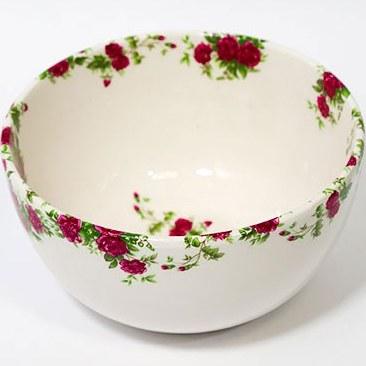 تصویر کاسه آبگوشت خوری گل سرخی سرامیکی مجموعه سروستان