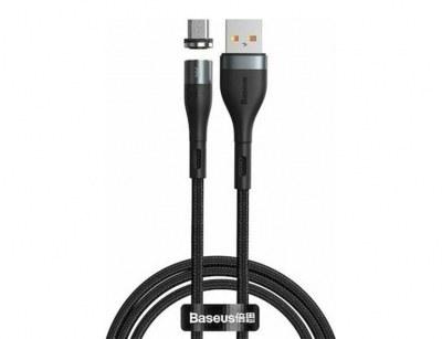 تصویر کابل آهنربایی میکرو یو اس بی بیسوس Baseus Zinc Magnetic Micro USB Cable 1m