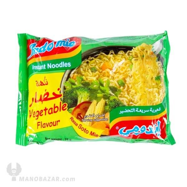 تصویر نودل سبزیجات اندومی : وزن 75 گرم