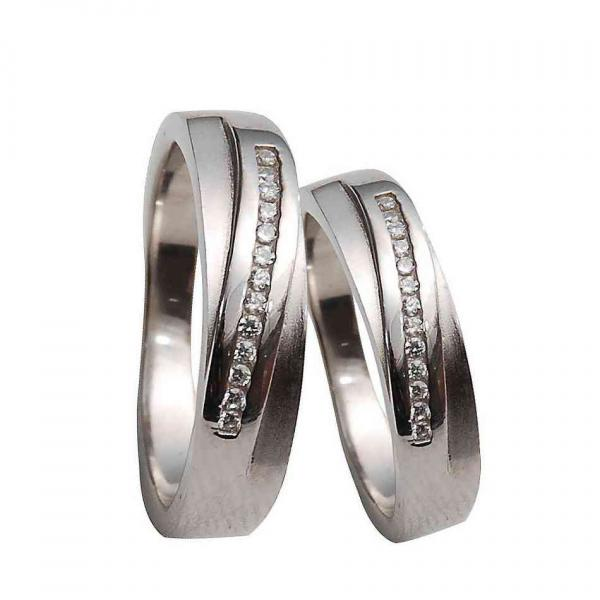 قیمت ست حلقه نقره - کد R081- ست انگشتر نقره |