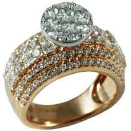 انگشتر طلا 18 عیار زنانه مدل KG1006 |