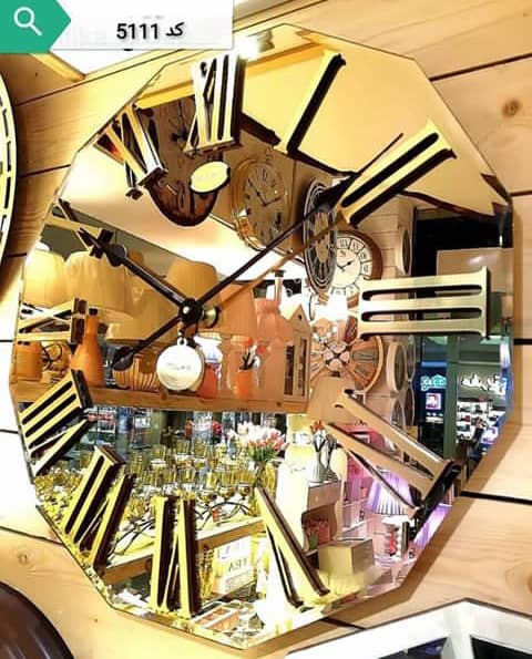 ساعت دیواری آینه ای مدرن کد5111  