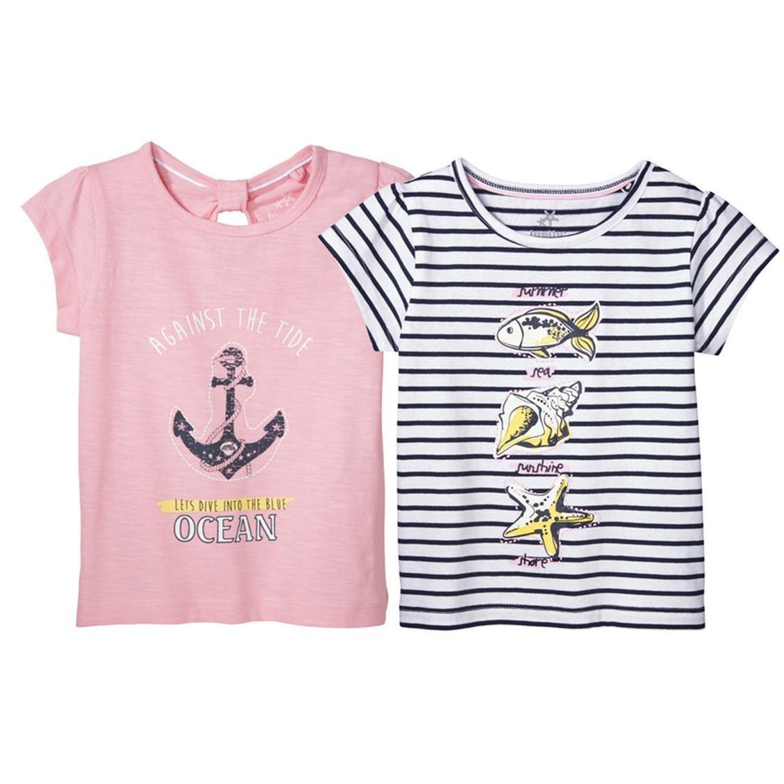 تی شرت دخترانه بسته 2 عددی لوپیلو کد 28518