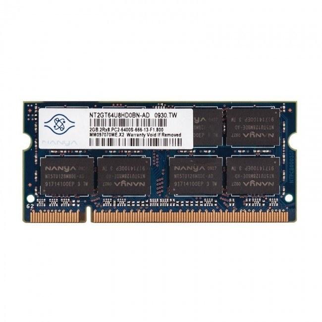 رم لپ تاپ نانیا مدل DDR2 6400s MHz ظرفیت 2 گیگابایت |
