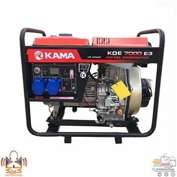 تصویر موتور برق کاما دیزلی سه فاز مدل KDE7000E3 portable generator kama 3phase KDE7000E3