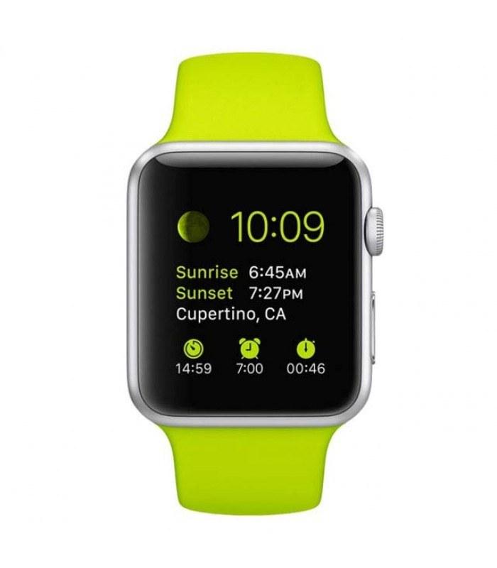 ساعت هوشمند اپل Apple Watch 42mm Silver Aluminum Case With Green Sport Band