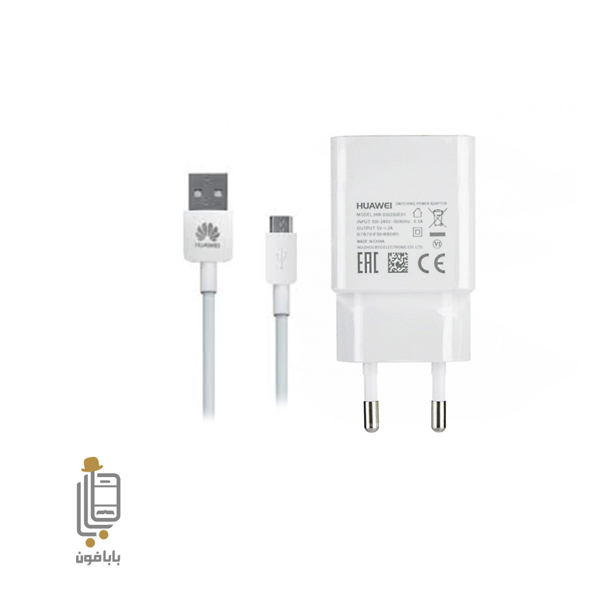 تصویر فست شارژر و کابل سوپر شارژ اصلی هواوی گوشی Huawei p smart 2019 Huawei p smart 2019 Quick charge adapter with cable Huawei Y7 pro 2019