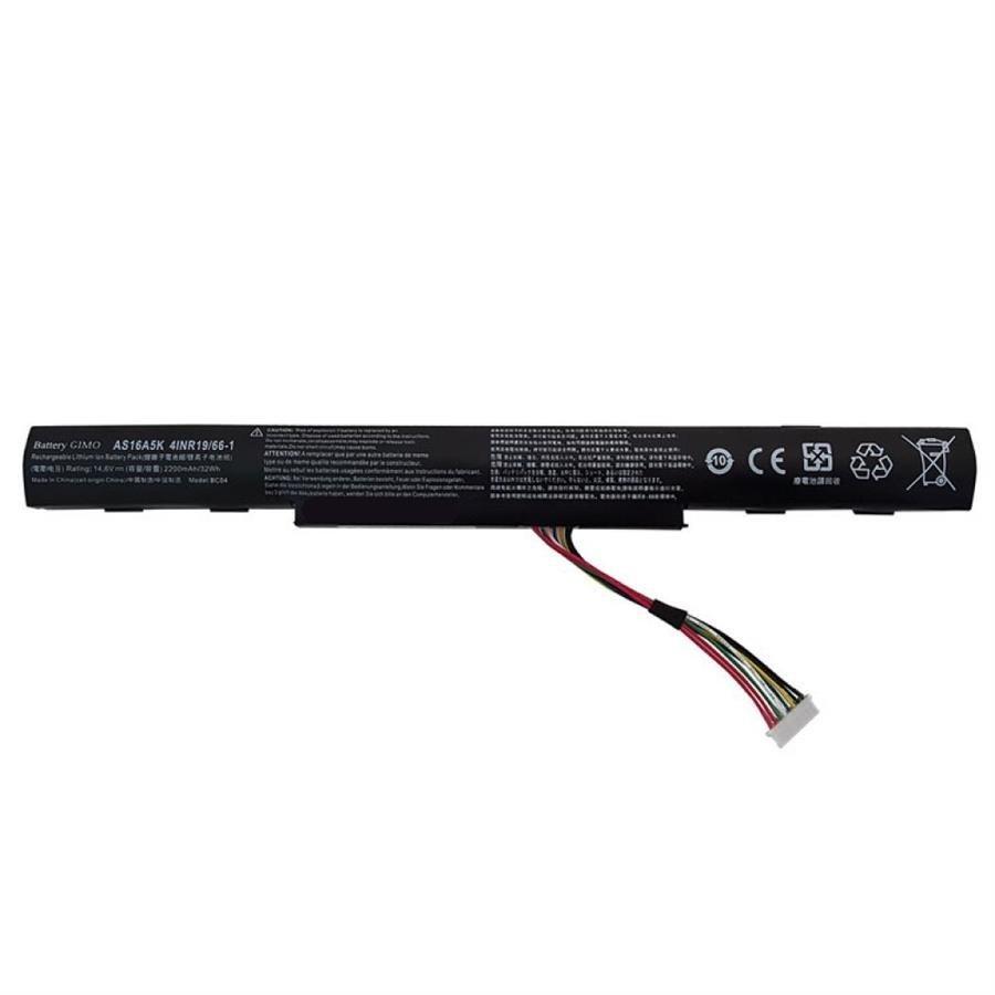 تصویر باتری لپ تاپ ایسر AS16A5K مناسب برای لپ تاپ ایسر Aspire E5-575 چهار سلولی