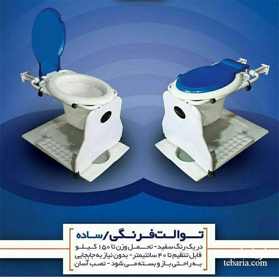 صندلی توالت فرنگی دیواری تاشو