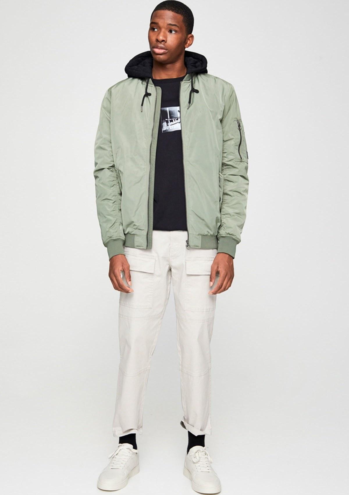 تصویر خرید غیر حضوری ژاکت از ترکیه برند Pull & Bear رنگ خاکی کد ty35349518