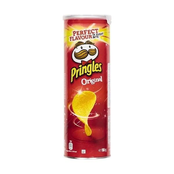 تصویر چیپس پرینگلز PRINGLES با طعم اورجینال ترکیه ۱۶۵ گرم PRINGLES chips with original Turkish taste 165 g