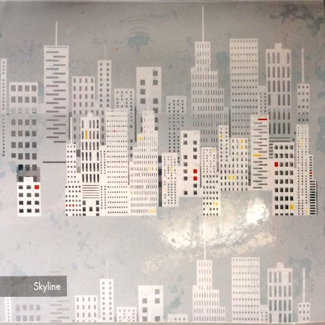 تصویر پرده حمام 190*240 رزین تاژ طرح Skyline