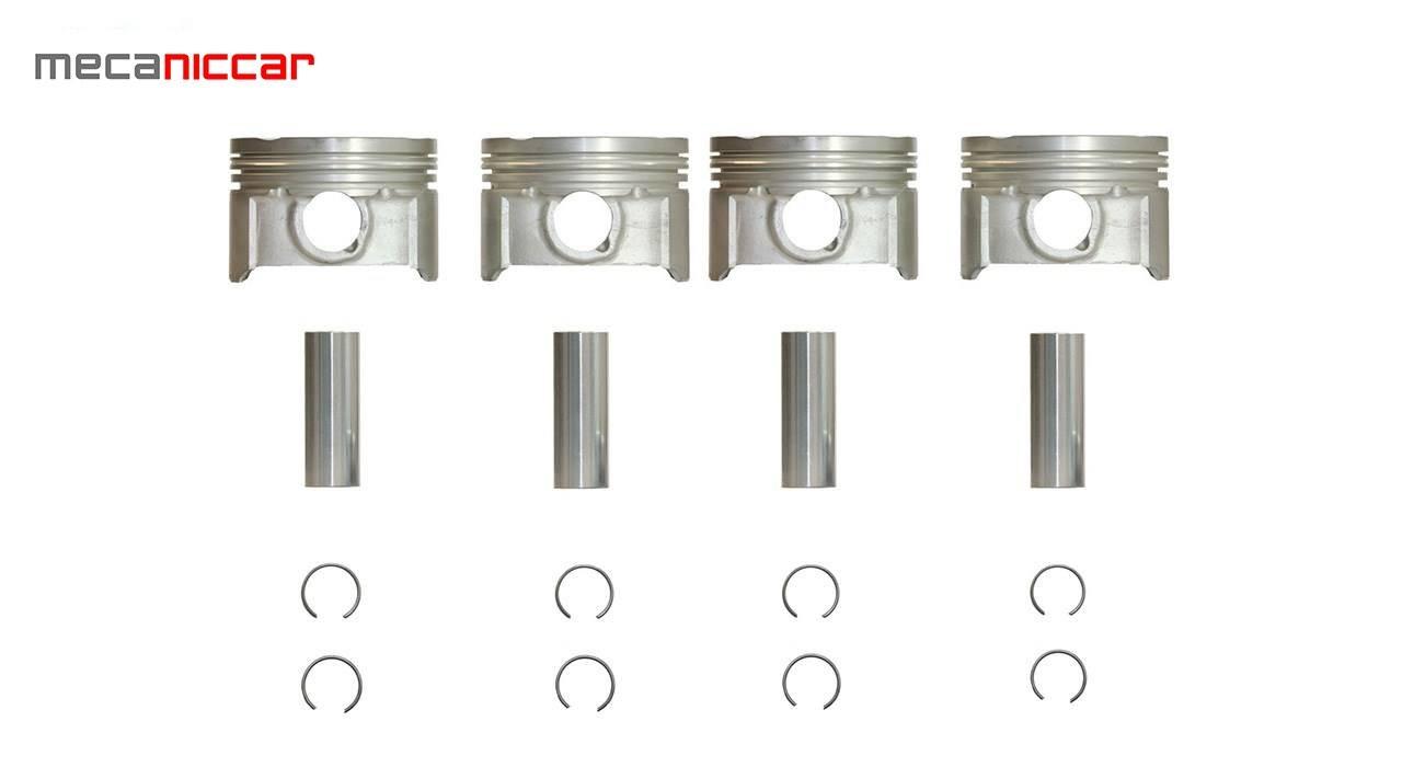 تصویر پیستون (بارینگ) استاندارد  سمند EF7 با خار و گژن پین PISTUN