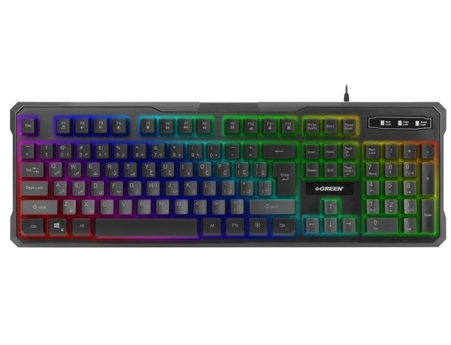کیبورد مخصوص بازی گرین مدل Green GK601-RGB