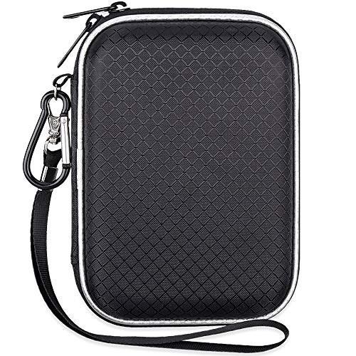 تصویر کیف حمل شوک لکدو EVA برای Western Digital My Passport Studio استودیوی فوق العاده باریک و ضروری WD عناصر SE قابل حمل USB 3.0 قابل حمل 2.5 اینچی درایو دیسک سخت قابل حمل مسافرتی ، کیف بزرگ ، اندازه