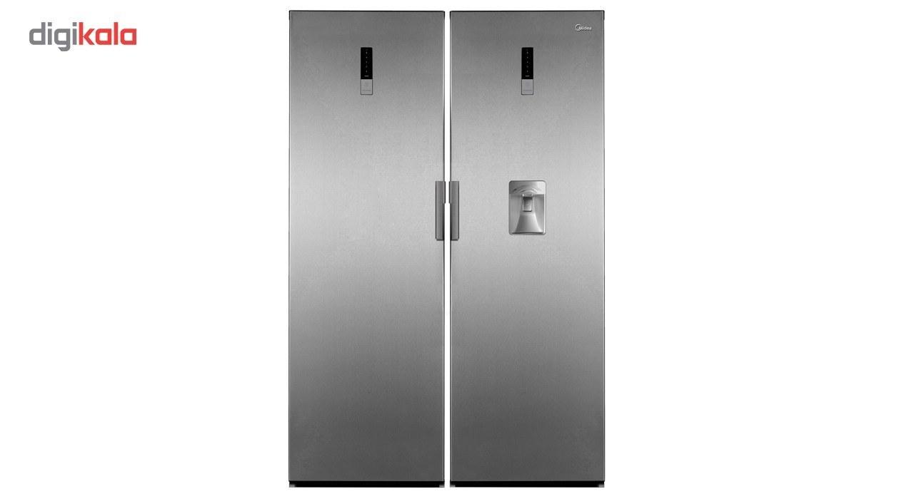img یخچال و فریزر مایدیا مدل HS-338FWE-HS-455LWEN Midea HS-338FWE-HS-455LWEN Refrigerator