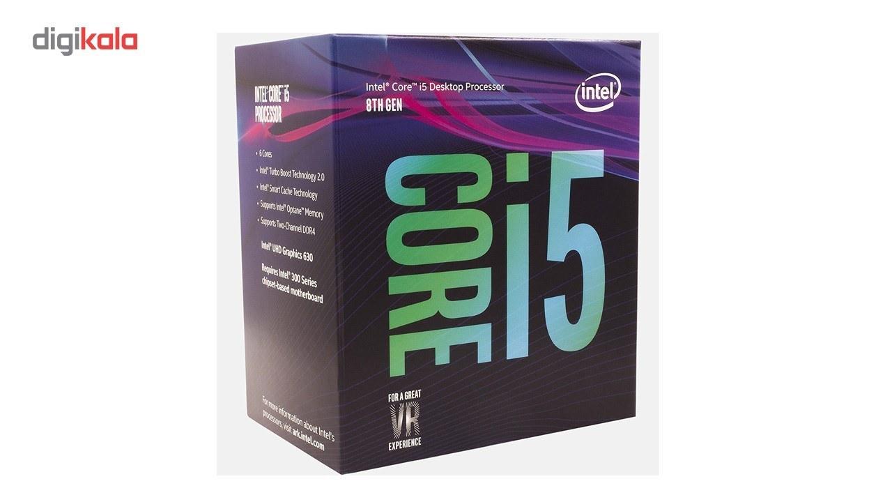 img پردازنده تری اینتل مدل آی فایو ۸۴۰۰ با فرکانس ۲.۸ گیگاهرتز Intel Core i5-8400 2.8GHz LGA 1151 Coffee Lake TRAY CPU