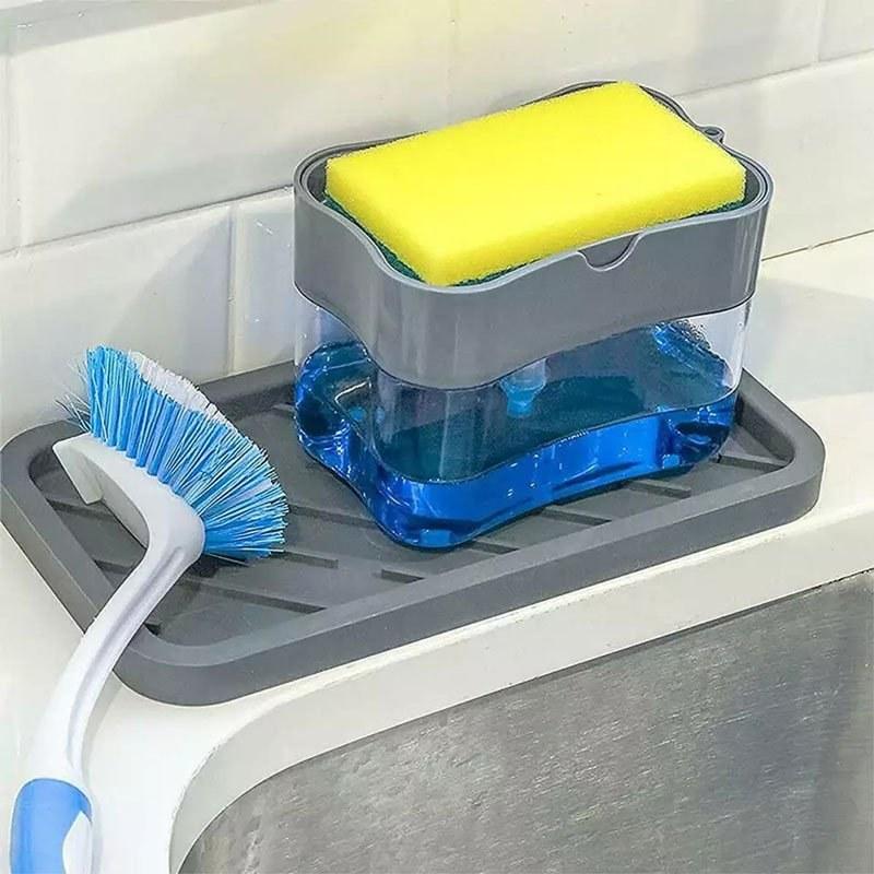 تصویر جا مایع ظرفشویی به همراه  اسکاچ