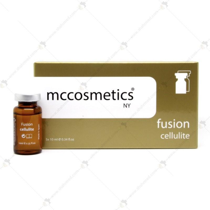تصویر کوکتل مزوتراپی 10 سی سی اسپانیایی فیوژن ام سی کازمتیکس مدل سلولیت Mesotherapy Cocktail Fusion mccosmetics Cellulite 10cc