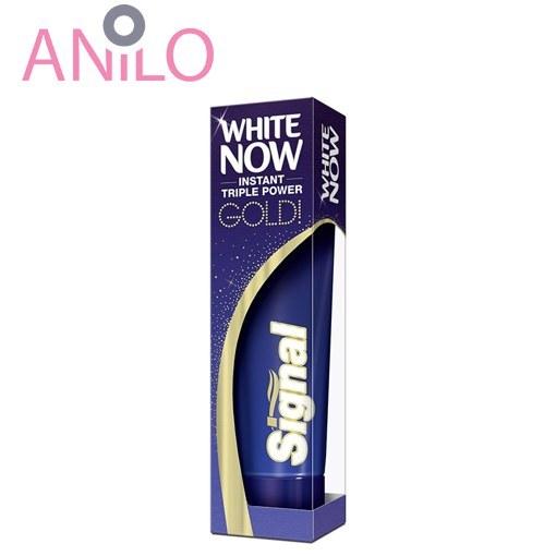 خمیر دندان گلد سیگنال مدل White Now Gold حجم 50 میل