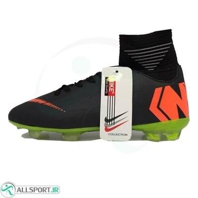 کفش فوتبال نایک مرکوریال سایز کوچک طرح اصلی مشکی نارنجی Nike Mercurial 2018