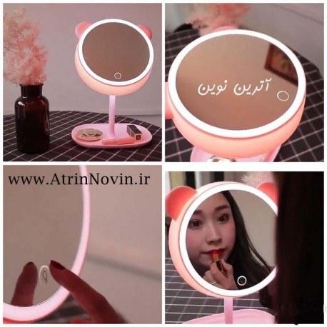 تصویر آینه آرایشی چراغ دار رومیزی