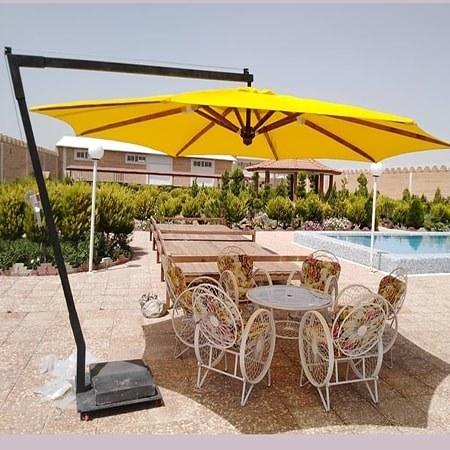 تصویر سایبان چتری پایه کنار قطر 3 متر