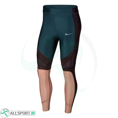 تایت زنانه نایک Nike Womens Power Speed Running Tight Dark Teal Active Wear AQ5364-304
