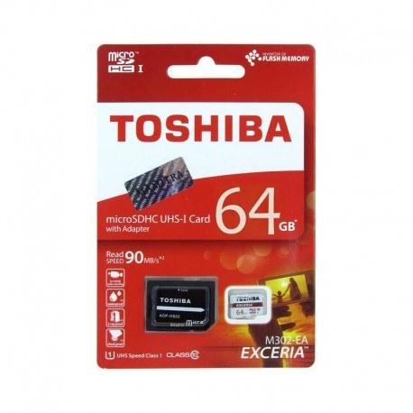 کارت حافظه microSDXC توشیبا مدل Exceria M302 کلاس 10 استاندارد UHS-I U3 سرعت 90MBps ظرفیت 64 گیگابایت