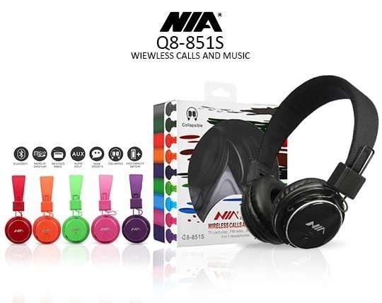تصویر هدفون بی سیم نیا مدل Nia Q8-851S ا NIA Q8-851S Wireless Headphones NIA Q8-851S Wireless Headphones