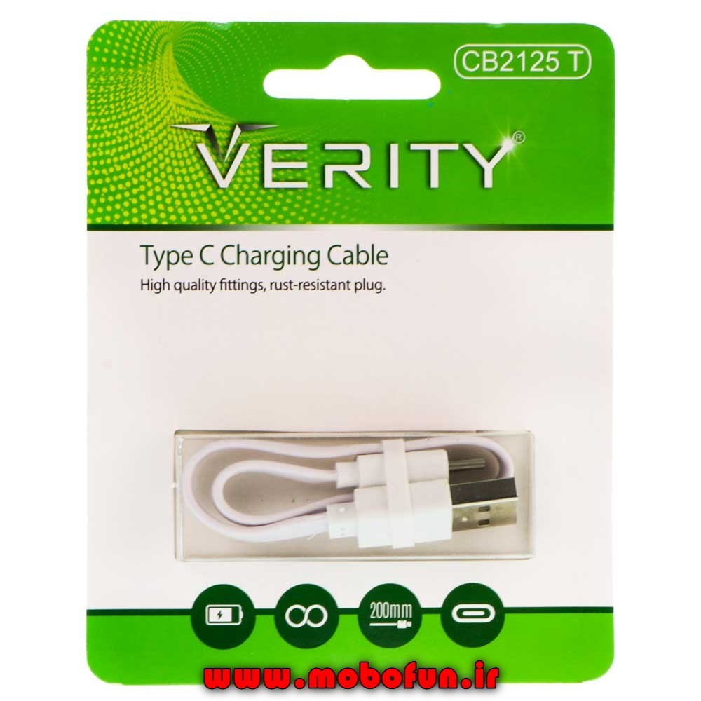 main images کابل تبدیل USB به USB-C وریتی مدل CB2125T طول 0.2 متر Verity CB2125T USB To USB_C Cable 0.2m
