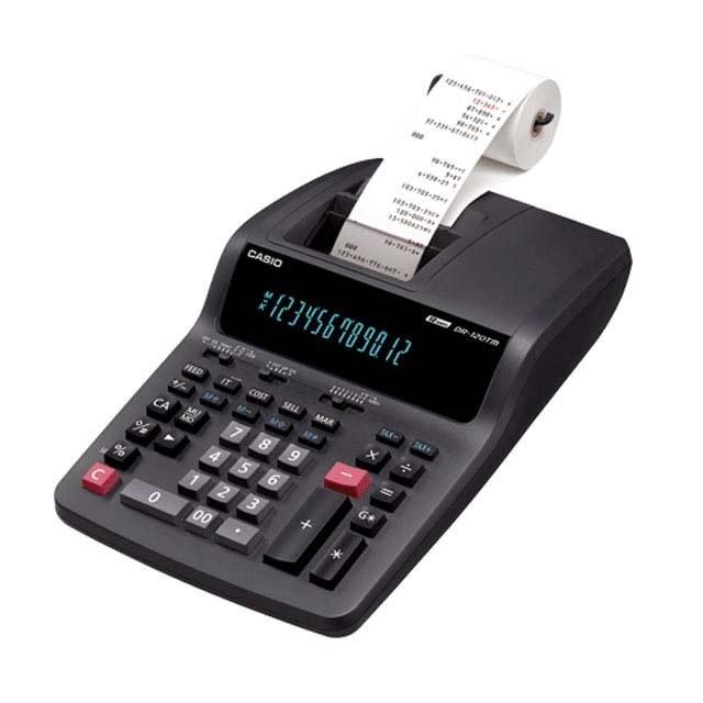 main images ماشین حساب رومیزی کاسیو مدل دی آر 120 تی ام Casio DR-120TM Printing Calculator