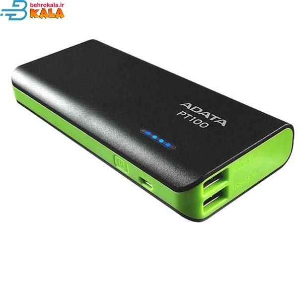 تصویر پاور بانک 10000 ADATA پاور بانک ده هزار  ADATA مدل PT100 دو پورت  چراغ قوه LED دارد  خروجی بالای 2 امپر ارسال با پست رایگان وهزینه ارسال با تیپاکس به عهده مشتری می باشد  شماره تماس: 09396808372