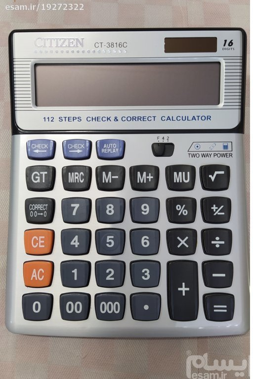 تصویر ماشین حساب CITIZEN مدل CT _ 3816C