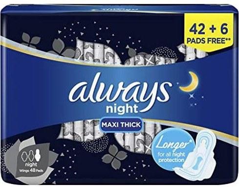 عکس آلویز | نوار بهداشتی مخصوص شب | 48 عددی  الویز-نوار-بهداشتی-مخصوص-شب-48-عددی