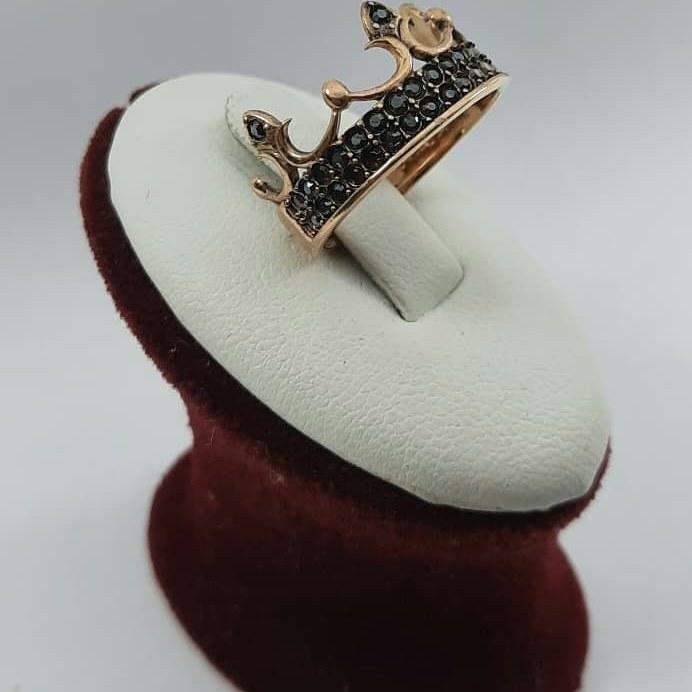 تصویر انگشتر طلا روس رنگ ثابت ( زیورالات بدلیجات نقره )