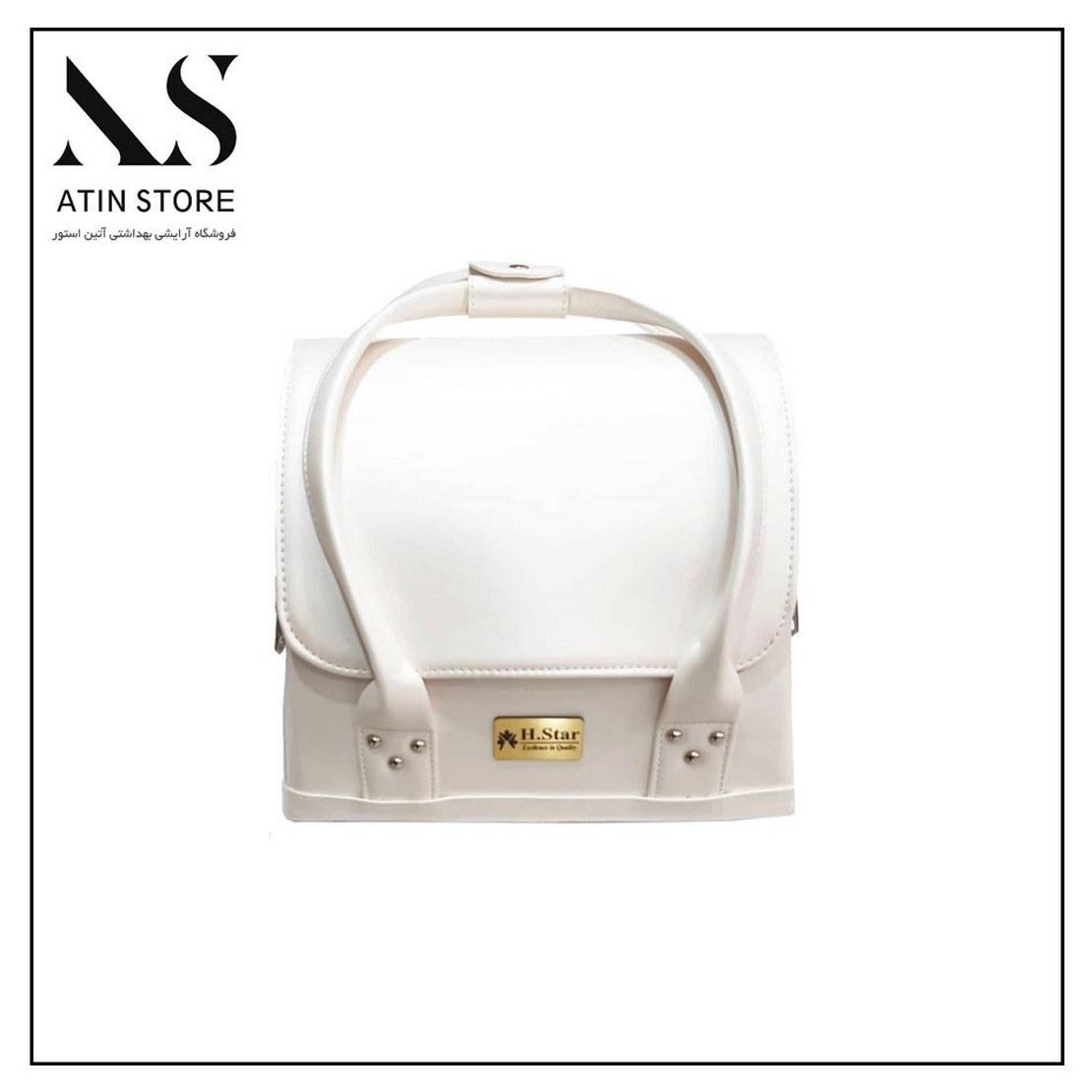 کیف طبقاتی چرمی E.M سفید