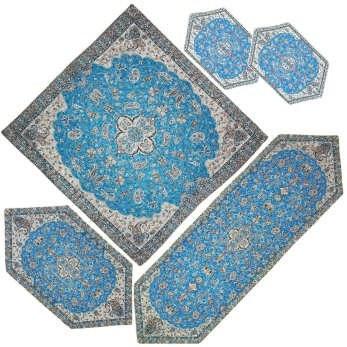 ست 5 تکه رومیزی ترمه مدل شاه عباسی کد A-BI5-5 |