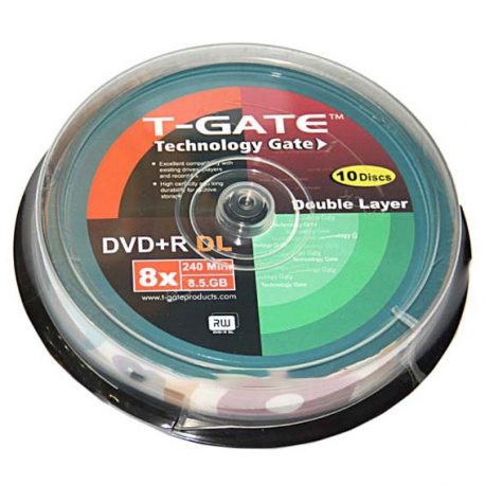 DVD خام 8.5 گیگابایتی - DVD 9 تی گیت T-Gate پک 10 عددی |