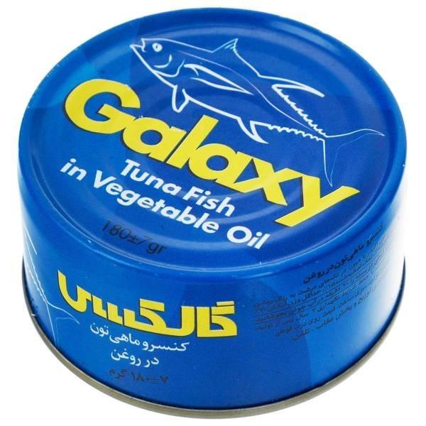 تصویر کنسرو تن ماهی گلکسی 180 گرمی -باکس 24 تایی