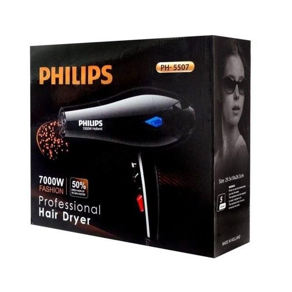 تصویر سشوار حرفه ای فیلیپس مدل PH-5507 Philips PH-5507 Professional Hair Dryer