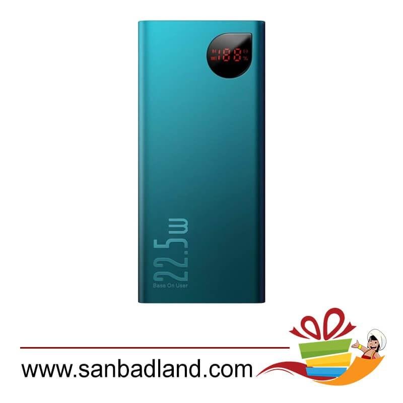 تصویر پاوربانک 20000 فست شارژ بیسوس Baseus Adaman Metal Digital Display QC3.0 PPIMDA-A0A Baseus Adaman Metal Digital Display Quick Charge Power Bank 22.5W 20000mAh