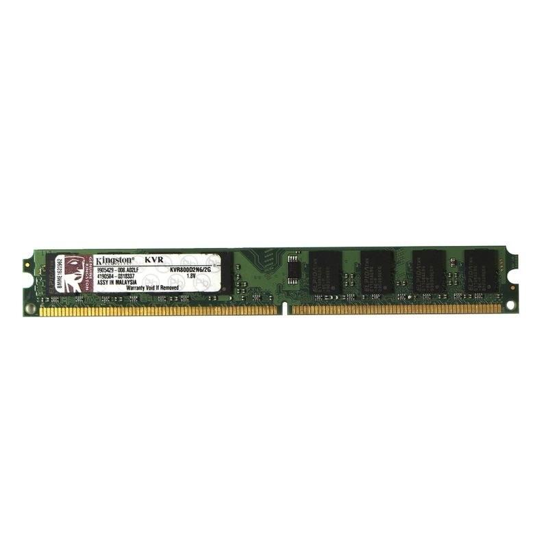 تصویر رم کامپیوتر کینگستون مدل DDR2 KVR800d2n6/2g با ظرفیت 2 گیگابایت و فرکانس 800MHz