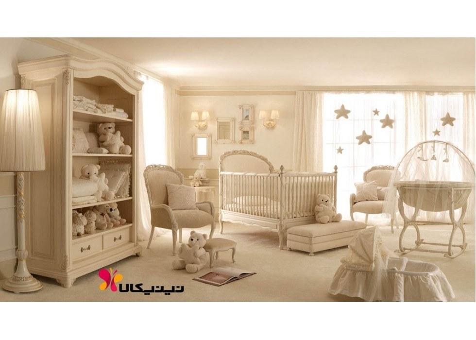 تصویر سرویس خواب چوبی نوزاد آمیسا مدل لیدوما