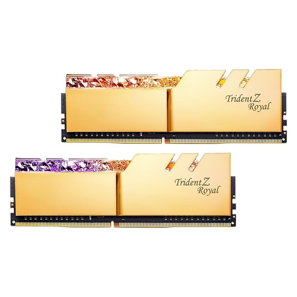 تصویر رم CL18 DDR4 جی اسکیل 16 گیگابایت 4000MHZ مدل TRIDENT Z ROYAL GOLD ا TRIDENT Z ROYAL GOLD DDR4 16GB 4000MHZ DUAL TRIDENT Z ROYAL GOLD DDR4 16GB 4000MHZ DUAL