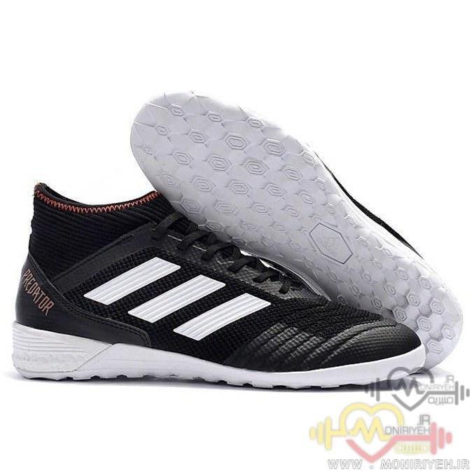 تصویر کفش فوتبال سالنی آدیداس – مشکی سفید Adidas Predator