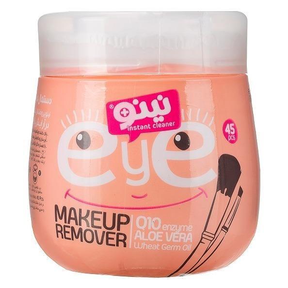 تصویر دستمال مرطوب پاک کننده آرایش دور چشم نینو ا nino eye makeup remover Wipes nino eye makeup remover Wipes