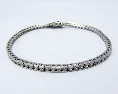 دستبند نقره زنانه بانگین کوارتز 6.9g   دستبند زنانه نقره میکرو تایلندی بانگین کوارتزسبز سنتزی سایز16-19cmبسیار ظریف و زیبا