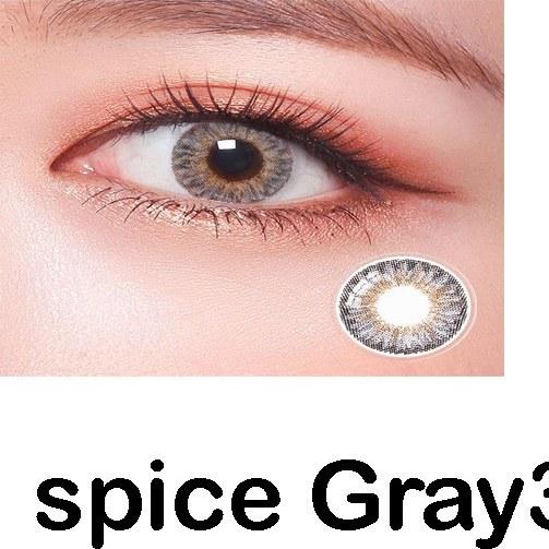 تصویر لنز رنگی چشم لاکی لوک طوسی عسلی مدل Spice Gray 3