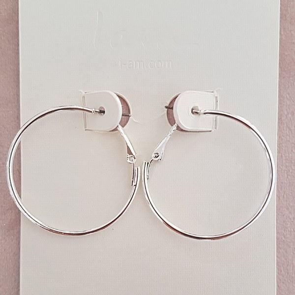 گوشواره حلقه ای نقره ای